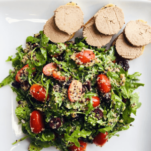 Arugula Quinoa Salad With Faux Gras