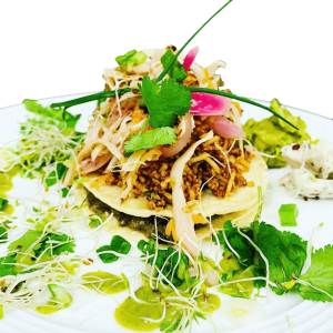 Tostadas Plated Side