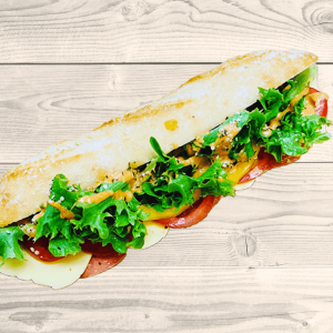 V'ham and Cheeze Footlong Baguette